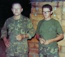 Captain Stolz and his radio man LCpl Byington - Vietnam, 1968.
