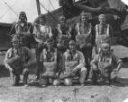 Corporal Frank C. Stolz, Sr. front row second from rt., Randolph or Kelly AFB San Antonio, TX - 1928.
